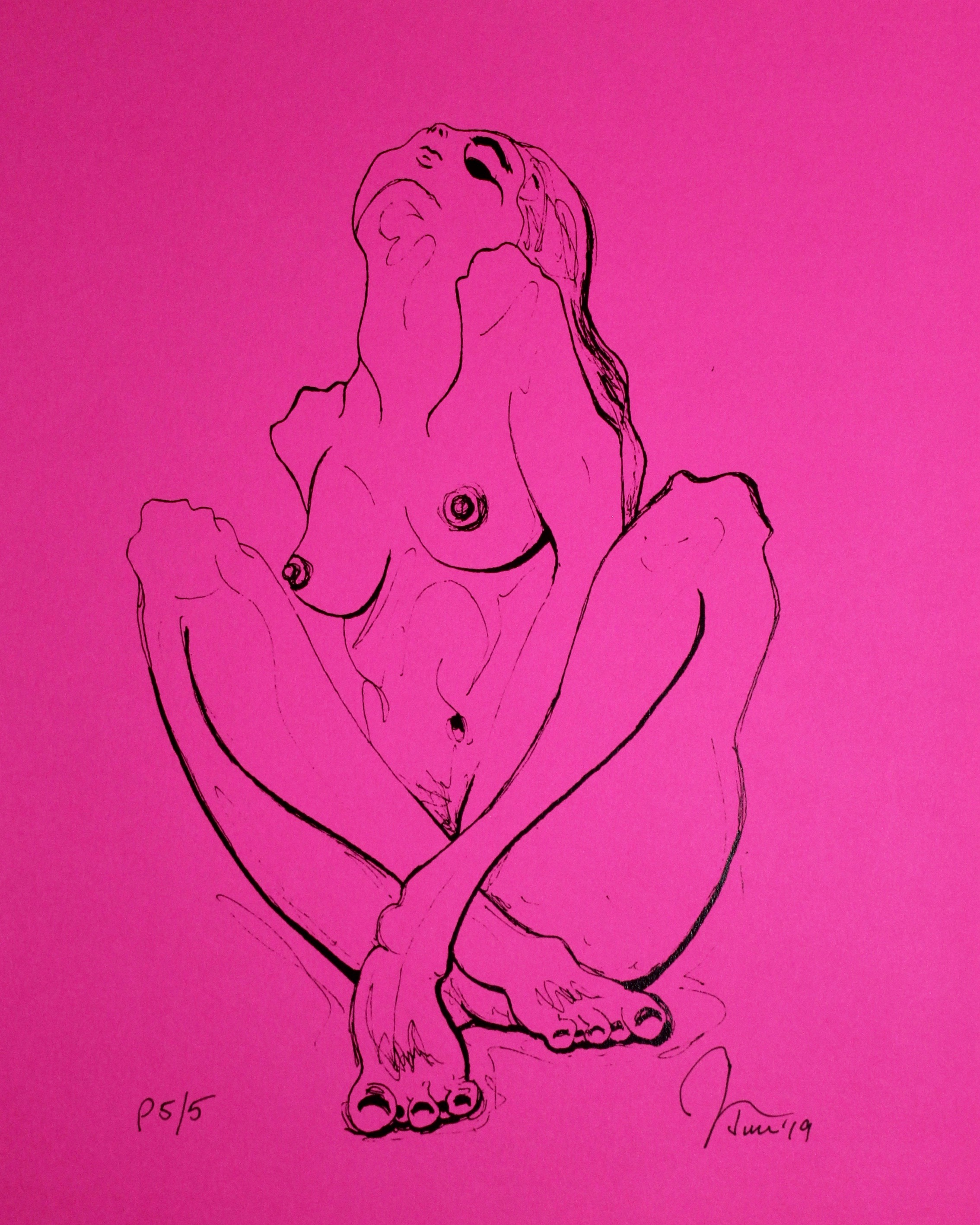 Upward Energy Print Pink Hot For Sale