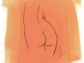 Tryst,  5.5″ x 7″
